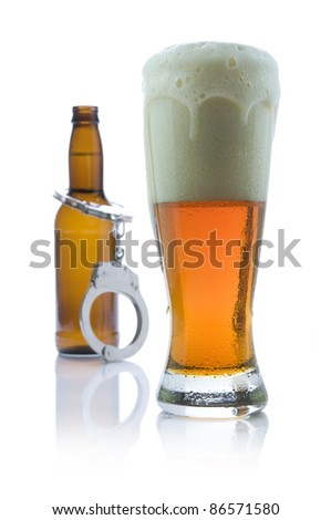 """Beer - """"Don't drink and drive"""" concept - stock photo"""