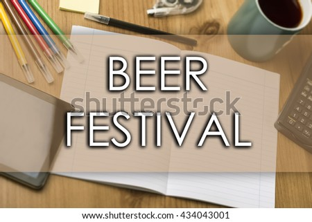 BEER FESTIVAL - business concept with text - horizontal image