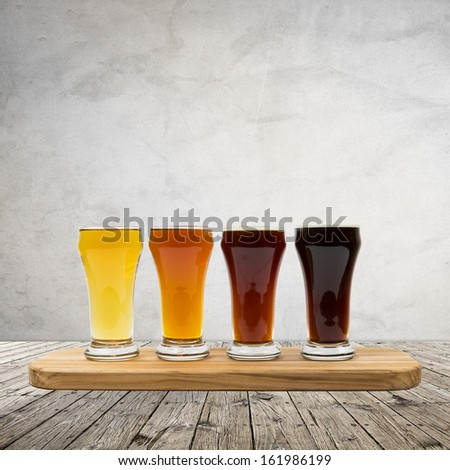 Beer Flight - stock photo