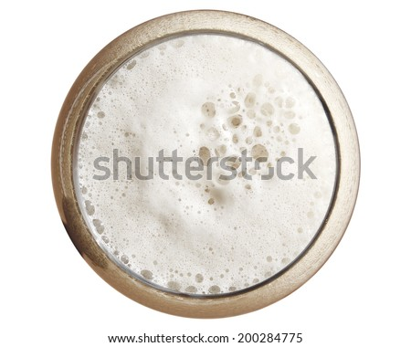 Beer from the top - stock photo