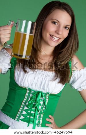 Beer Girl - stock photo