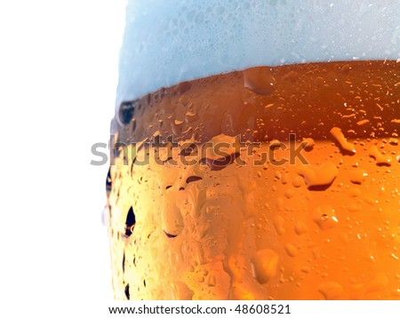 Beer glass background - stock photo