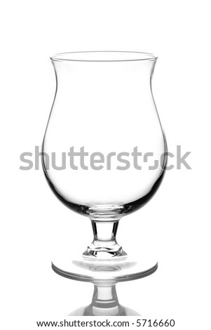 Beer glass isolated against  white background - stock photo