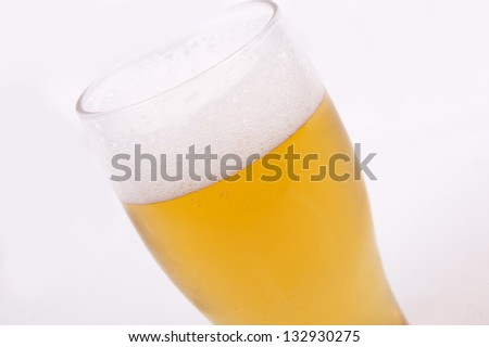 Beer Glass  isolated on a  white background - stock photo