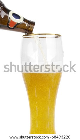 Beer glass isolated on the white background.