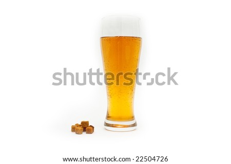 Beer glass on a white background
