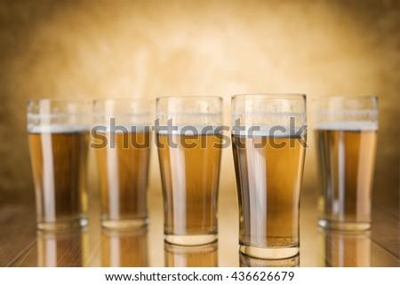 Beer Glasses,3d rendering - stock photo
