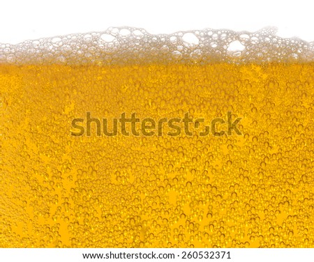Beer in a glass, lager, alcoholic bewerage - stock photo