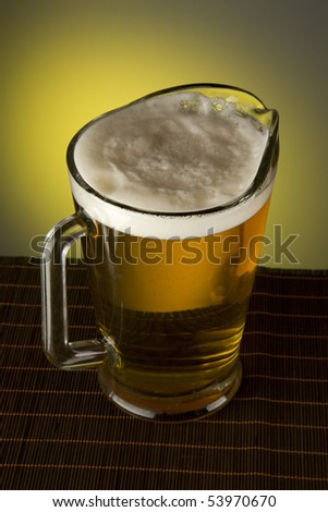 Beer in a jug - stock photo