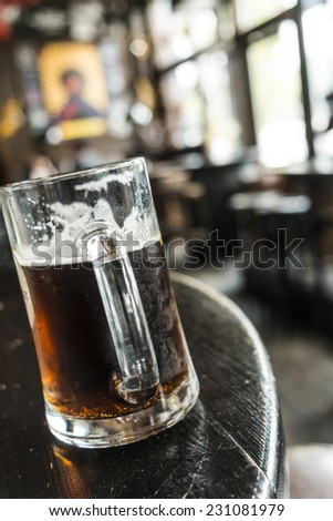 Beer in a pub, Germany - stock photo