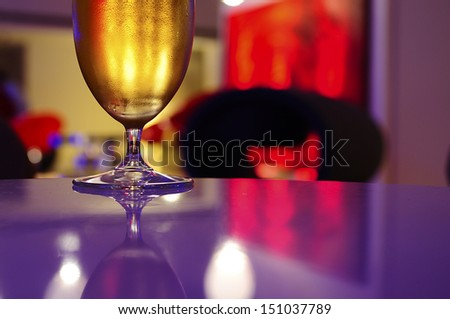 beer in night club - stock photo
