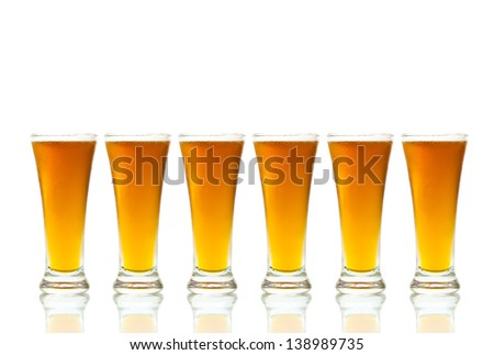 Beer isolated on white background with copy space - stock photo