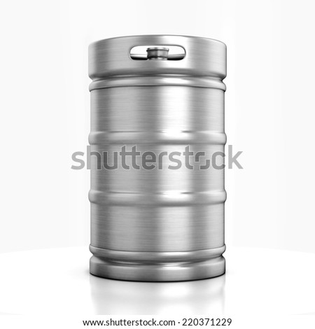 beer keg isolated on white - stock photo