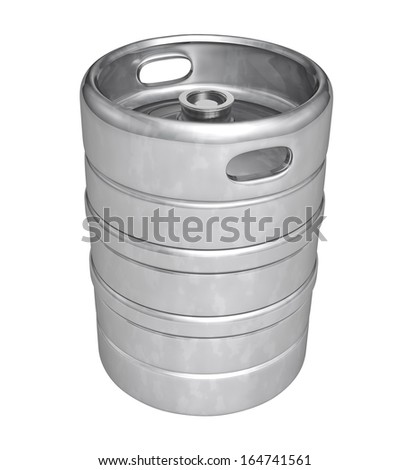 Beer keg - isolated over white background - stock photo