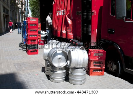 Beer Kegs Delivery - stock photo