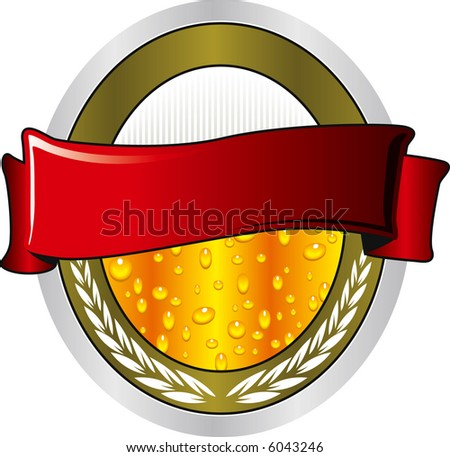 beer label - stock photo
