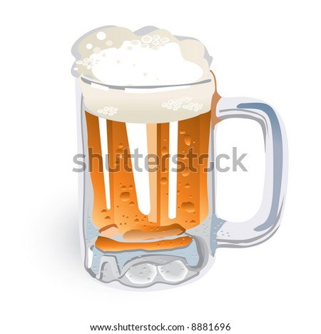 Beer Mug (also available vector version of this image in our gallery) - stock photo