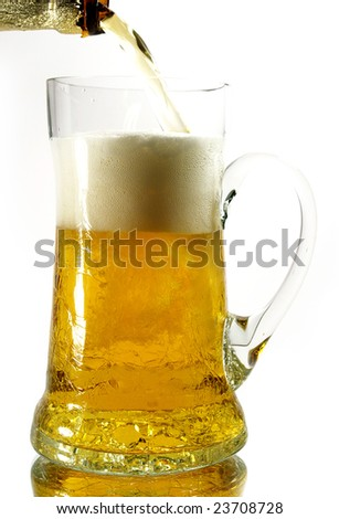 Beer mug isolated on a white background