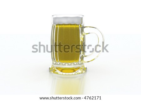 beer mug od white background
