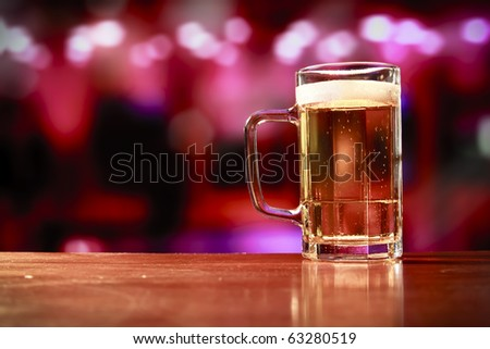 beer mug on a bar - stock photo