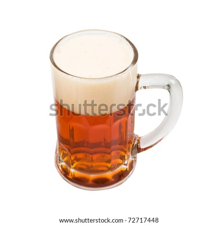 beer mug on a white background - stock photo