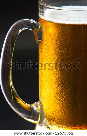 Beer mug on the table