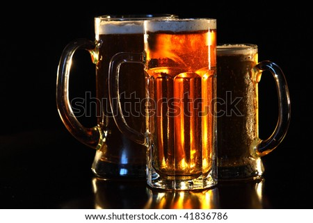 Beer mug on the table - stock photo