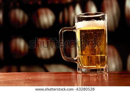 beer mug on vintage background