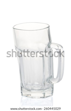 Beer mug unique shape isolated on white background - stock photo