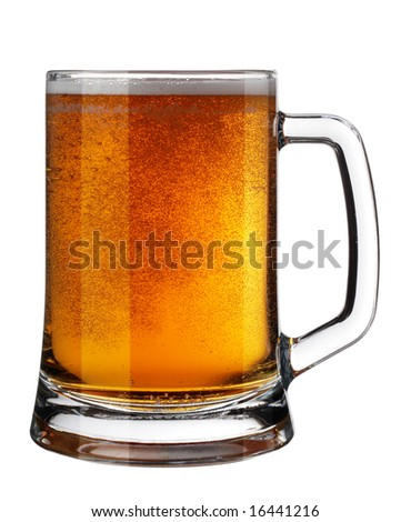 Beer Mug with Bubble Isolated over White