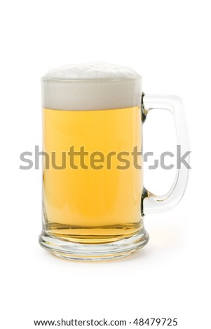 Beer mug with white background