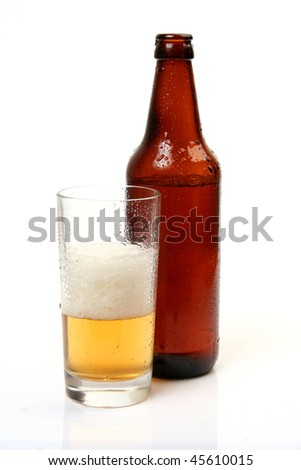 Beer on a white background