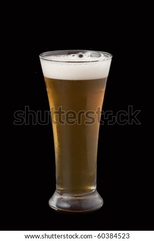 Beer on the background black. - stock photo