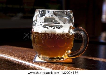beer on the table - stock photo