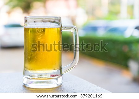 Beer on the table in the midst of