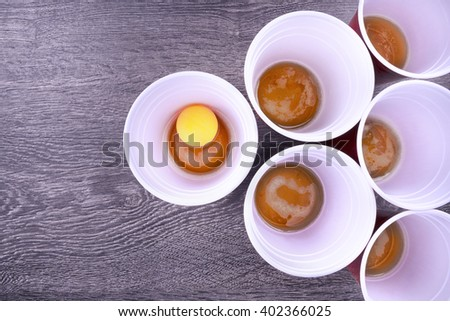 Beer pong game - stock photo