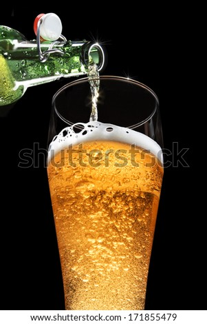 Beer Pour - stock photo