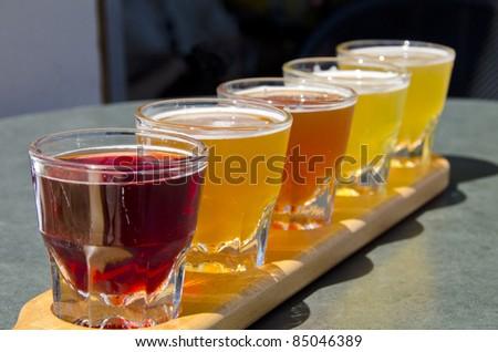 Beer Sampler - stock photo