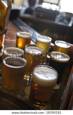 Beer Samples - stock photo