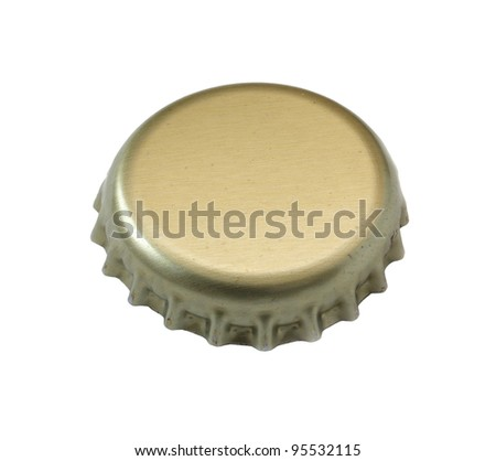 Beer stopper close up on a white background.