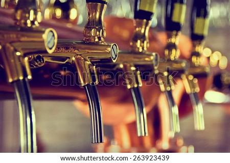 Beer tap - stock photo