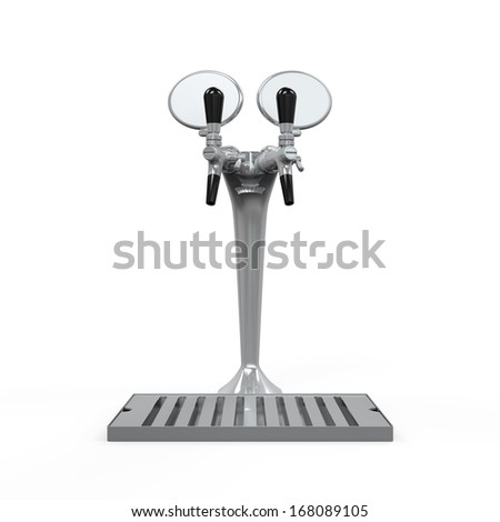 Beer Tap Isolated - stock photo