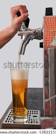 beer tapping - stock photo
