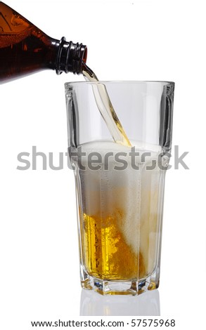 Beer to fill in goblet from bottle