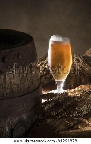 beer with barleymalt - stock photo