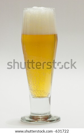 Beer with Head in beer glass - stock photo