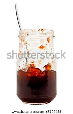 Beery jam jar half-full - stock photo