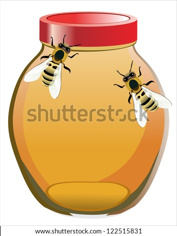 stock-photo-bees-to-the-honey-pot-122515