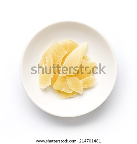 Beeswax flakes - stock photo