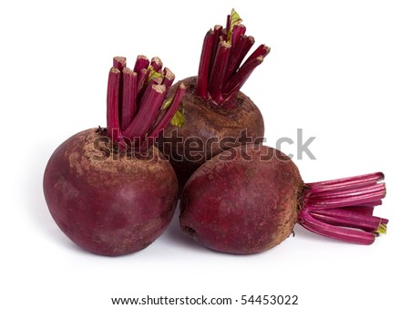beet roots isolated on a white background - stock photo